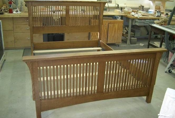 Mission Style Arts Crafts Queen Bed Max