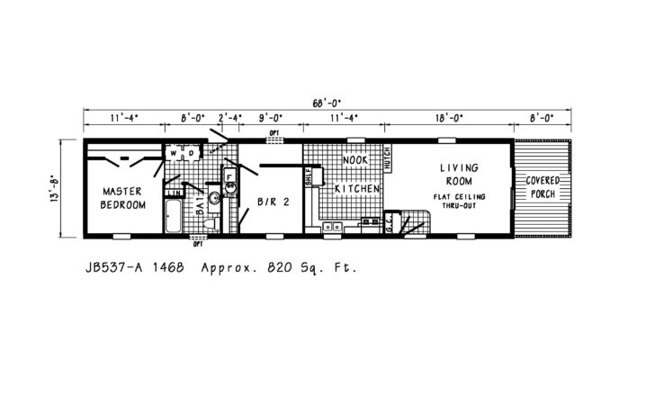 Mobile Homes Floor Plans Single Wide