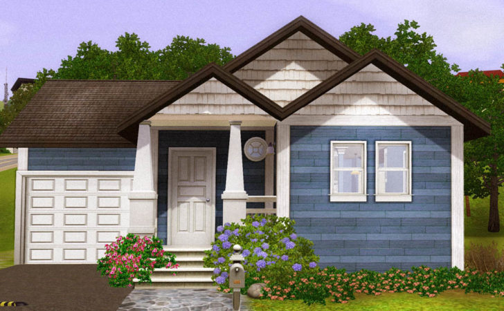 Mod Sims Blue Starter Home Fully Furnished