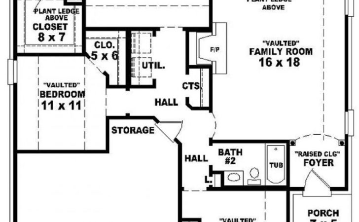 Modern Bedroom Bath Houseplans