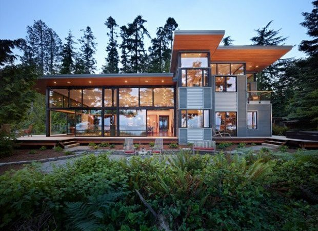 Modern Glass House Exterior Designs Style Motivation
