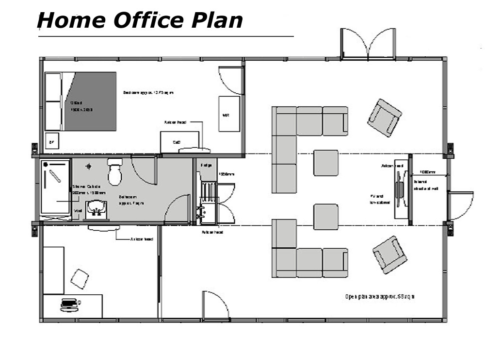 Modern Home Office Floor Plans Comfortable
