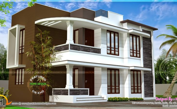 Modern House Exterior Home Kerala Plans Plan