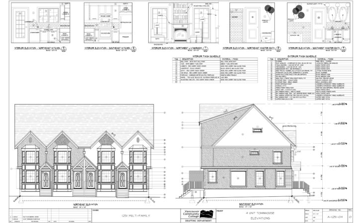 Modern House Plan Section Elevation