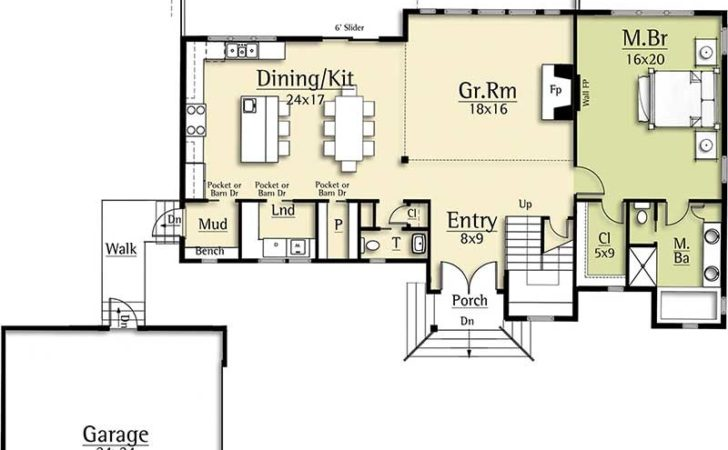 Modern House Plan Two Story Great Room