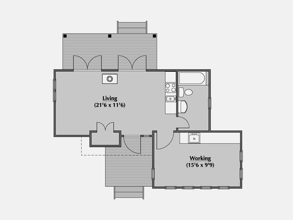 Modern Style House Plan Beds Baths