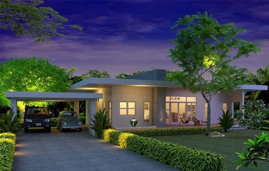 Modern Style Single Story House Plans Construction