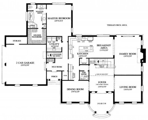 Modern Three Bedroom House Plans Floor