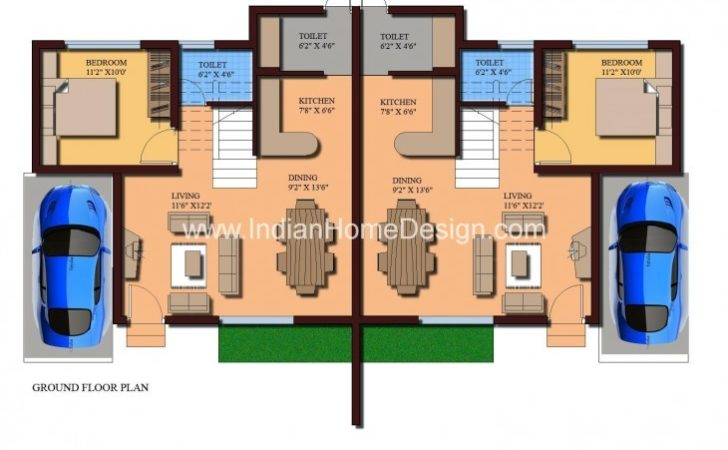 Modern Twin House Plans Sqft Bedroom Home