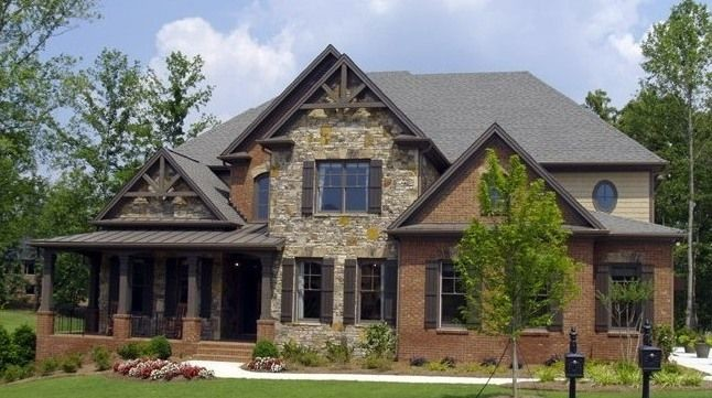 Modified Craftsman Style Home Brick Veneer