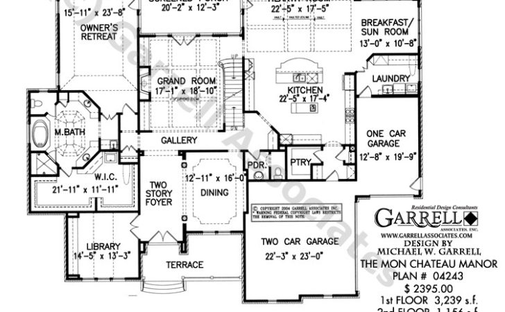 Mon Chateau Manor House Plan Plans Garrell