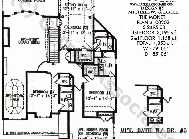 Monet House Plan Estate Plans