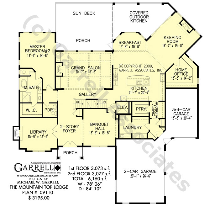 Mountain Top Lodge House Plan Craftsman Plans