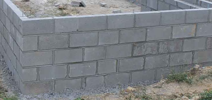 Much Does Concrete Block Wall Cost Inch Calculator