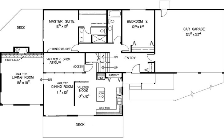Multi Level Home Designed Side Sloping Lot Hwbdo