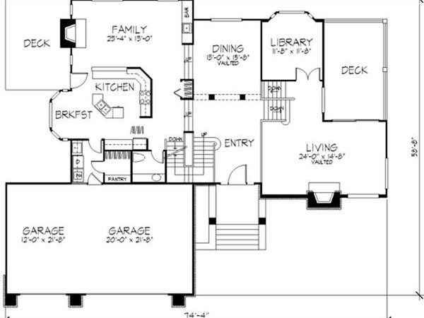 Multi Level House Plans Country Story