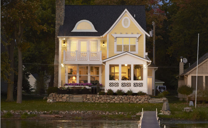 Narrow Lakefront Home Plans Homes Floor