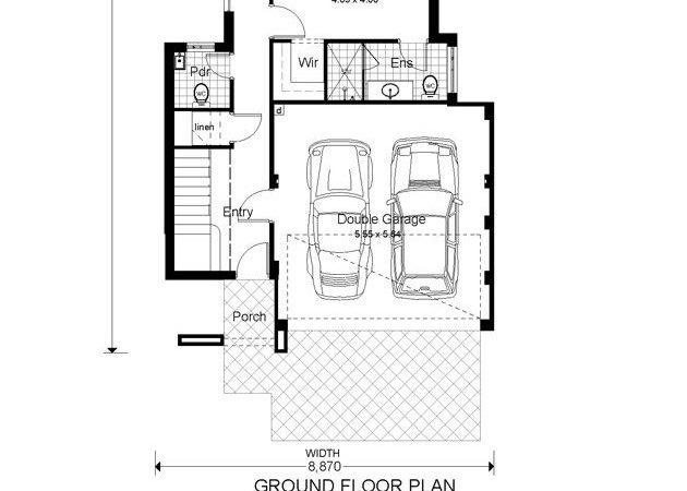 Narrow Lot Two Story House Plans