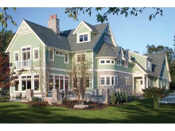 New American House Plan Square Feet