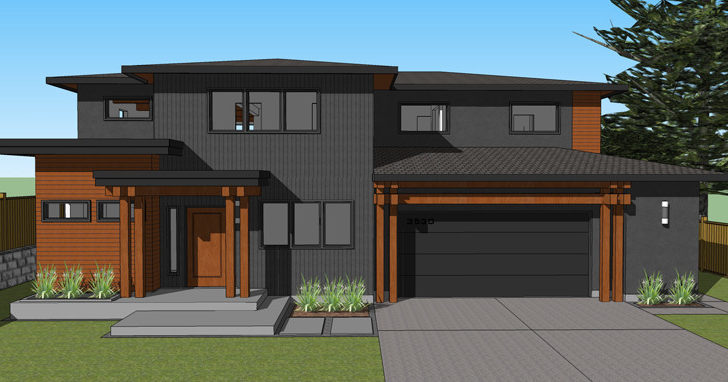 New Burnaby Custom Contemporary Home West Coast Design