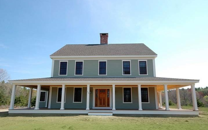 New England Farmhouse Wrap Around Porch Plans
