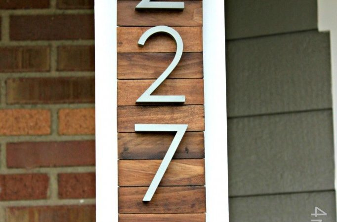New House Numbers Project Giveaway