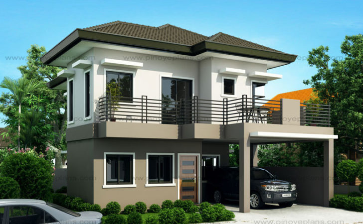 New Modern Two Storey House Plans Design