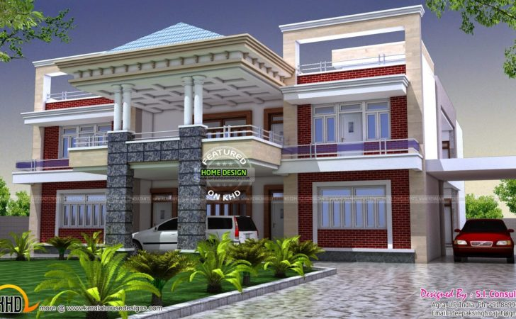 North Indian Luxury House Kerala Home Design Floor Plans