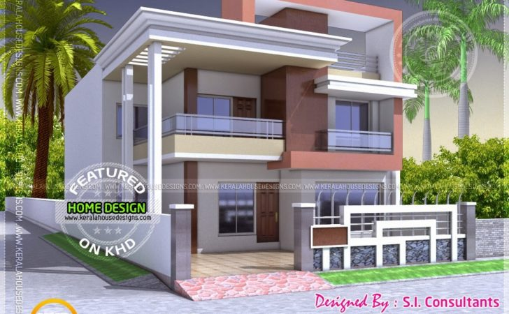 North Indian Style Flat Roof House Floor Plan