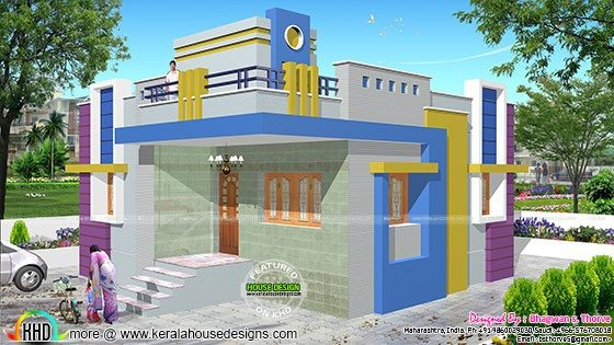 North Indian Style House Blue Print Plan Kerala Home