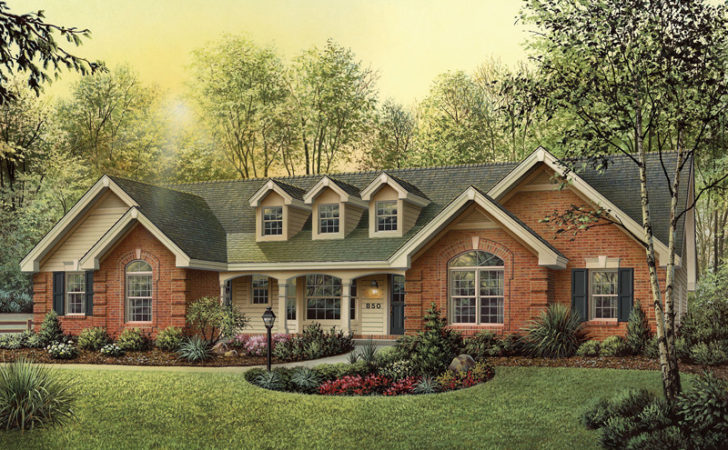 Oakbury Ranch Home Plan House Plans More