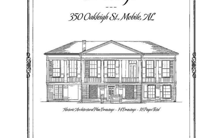 Oakleigh House Drawings Mobile Historic Plans