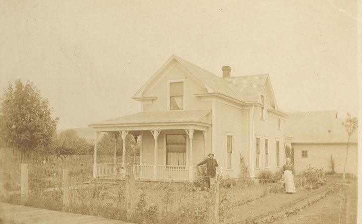 Old Photos Architecture Simple Victorian Farm House