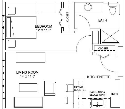 One Bedroom Floor Plans Unique House