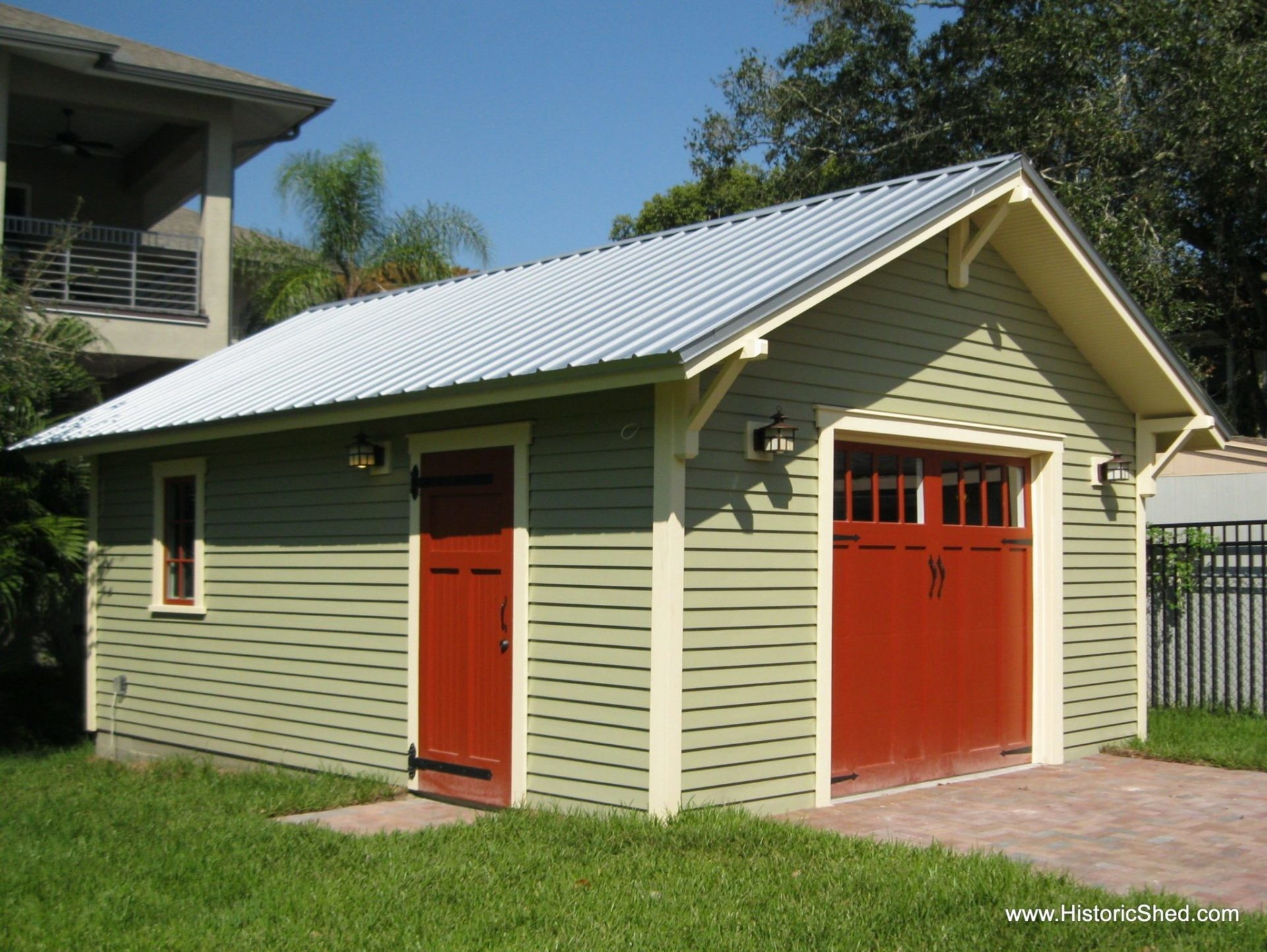 One Car Bungalow Garage Historic Shed