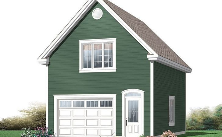 One Car Garage Plans Traditional Plan
