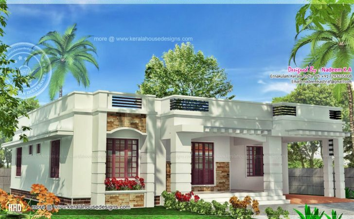 One Floor Kerala Style Home Square Meter Indian