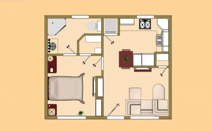 One Room Cabin Floor Plans Joy Studio Design
