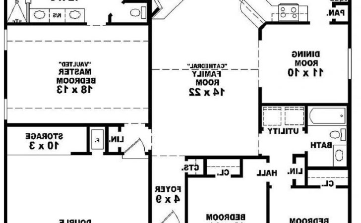 One Story Colonial Style House Plans