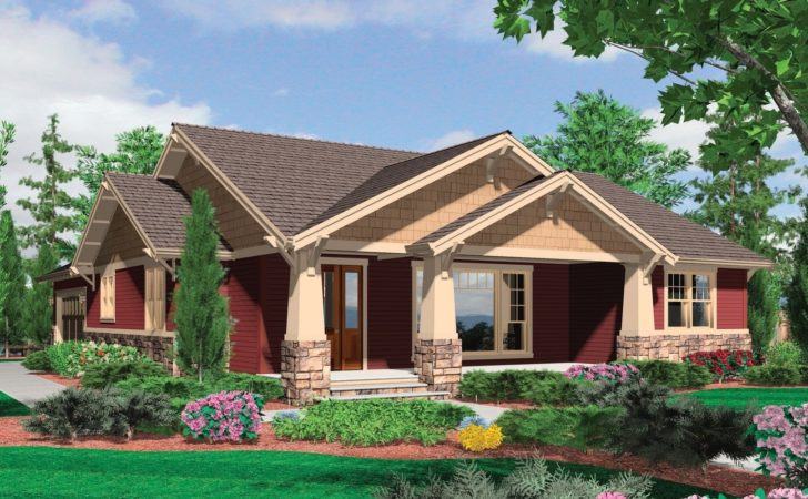 One Story Craftsman House Plans Porches