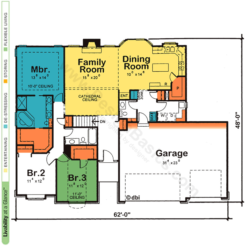 One Story Floor Plans Bedroom House