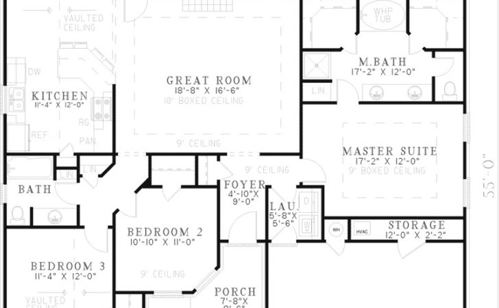 One Story Floor Plans Master