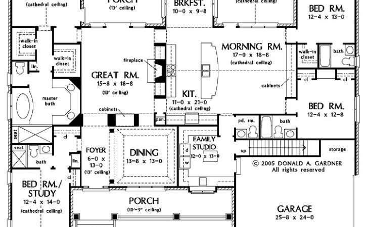 One Story Luxury House Plans