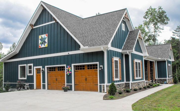 One Two Story Craftsman House Plan Country
