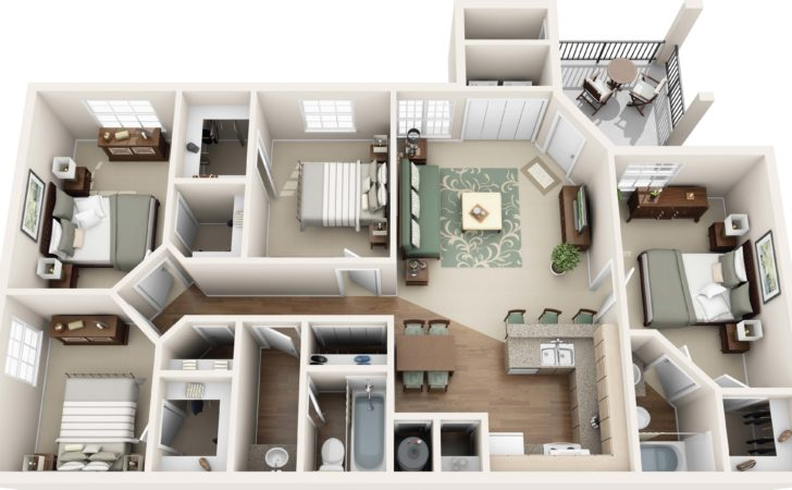 One Two Three Four Bedroom Apartments Round Rock