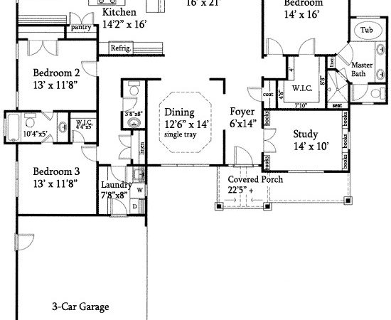 Open Floor Plan Split Ranch Master