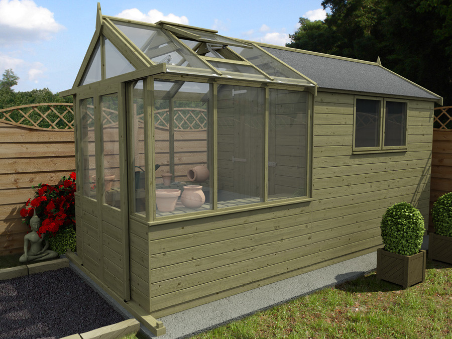 Our New Greenhouse Shed Combo Range Dunster House Blog