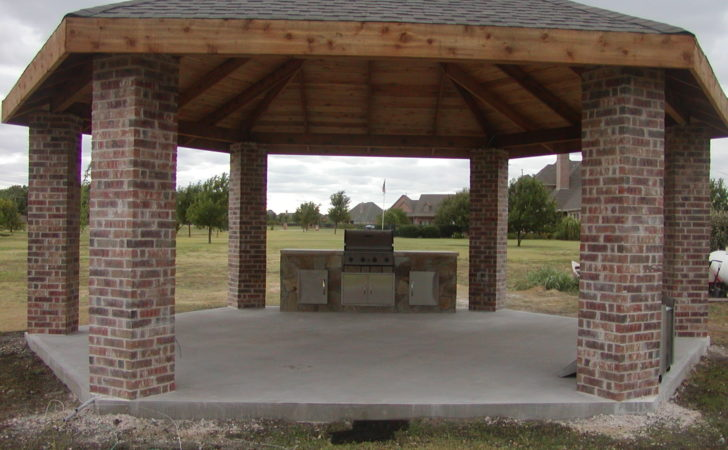 Outdoor Kitchen Gazebo Plans Submited Pic Fly