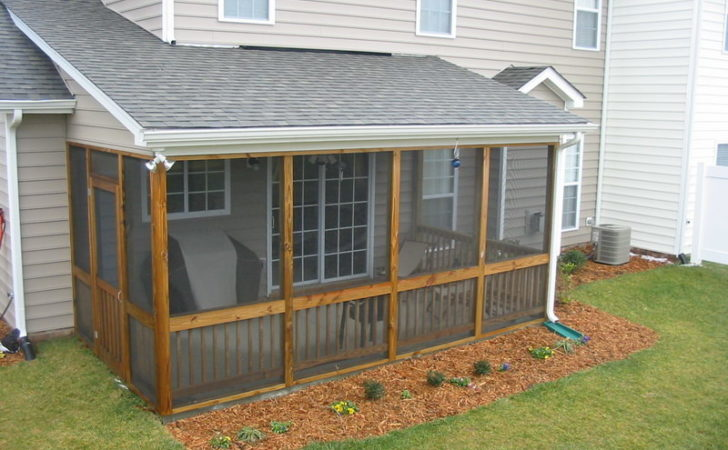Outdoor Screened Patio Designs Porch