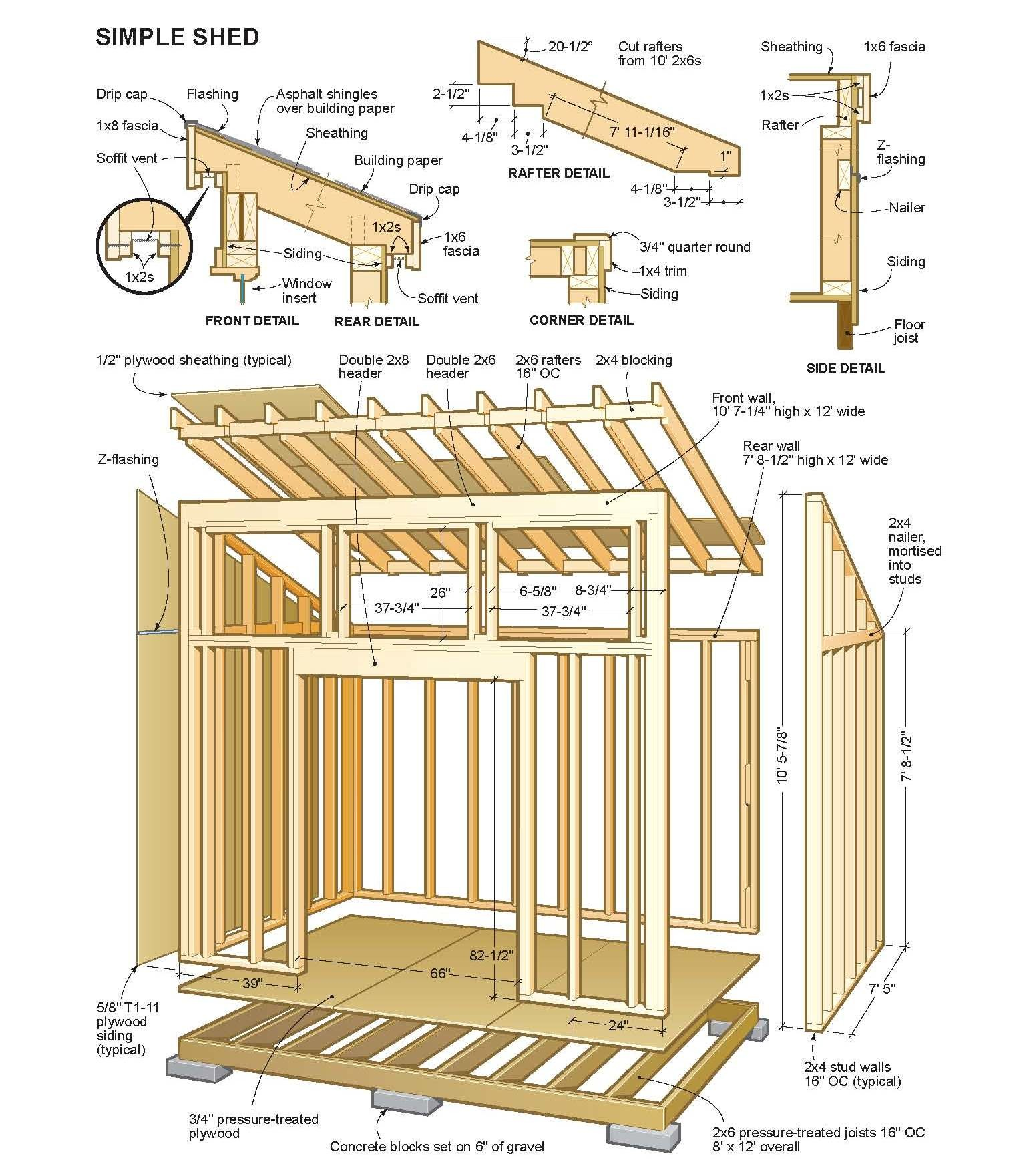 Outdoor Shed Plans Kits